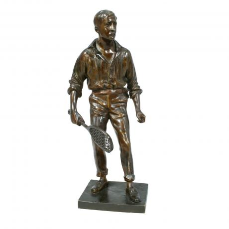 10978 Vintage Bronze Tennis Figure,...