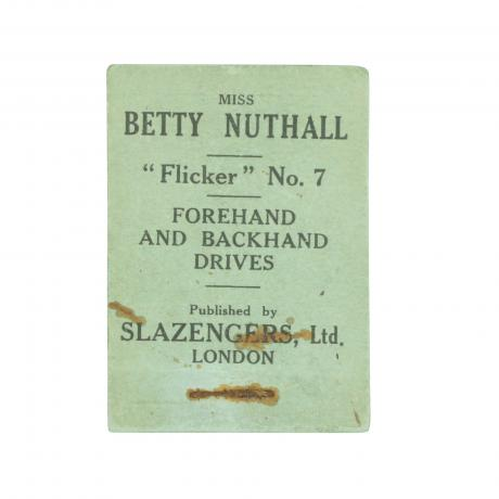 11103 Tennis Flicker Book, No.7. Miss Betty...