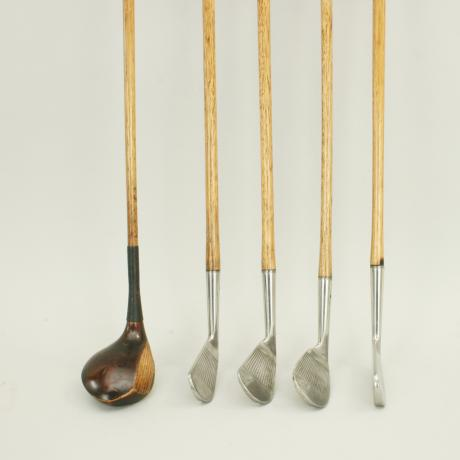 14740 Set of Five Playable Hickory Golf...