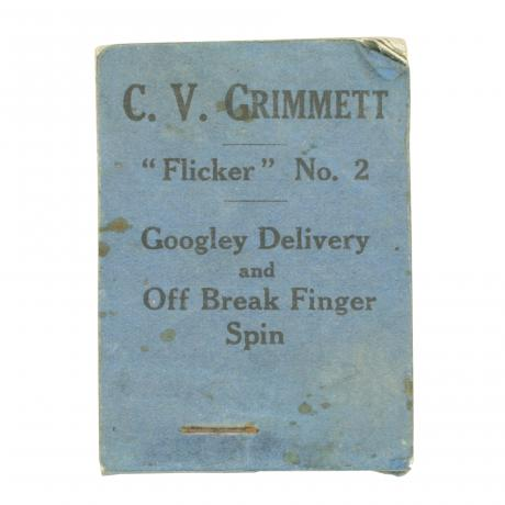 15006 Cricket flicker book, C.V. Grimmett No....