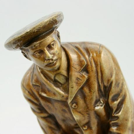 17769 ANTIQUE VIENNA BRONZE GOLFER.