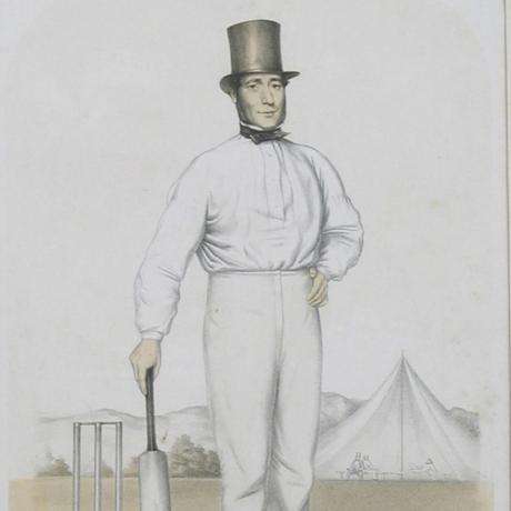 17920 Cricket Print of Joseph Guy of...