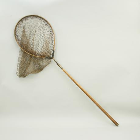 18327 Vintage Folding Fishing Net.
