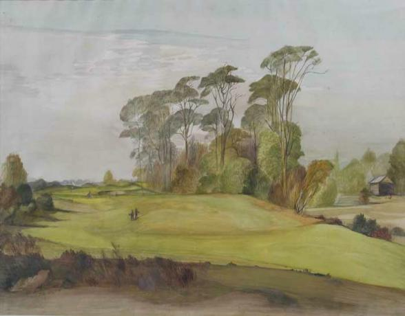 18508 1/2 N.P. Golf watercolour by Ernest...