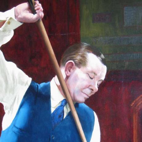 18556 Joe Davis Billiard painting.