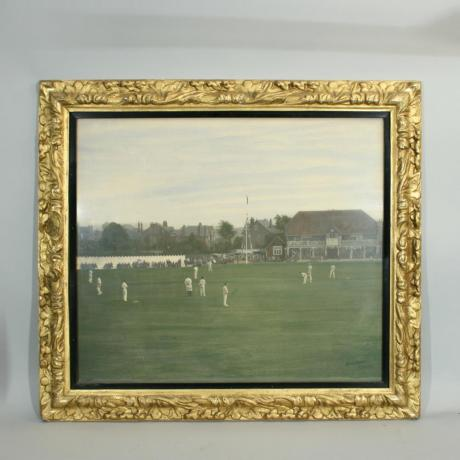 19933 VINTAGE HAND COLOURED CRICKETING...