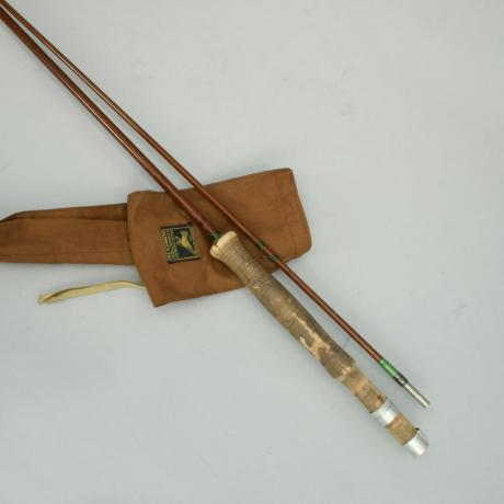 20421 VINTAGE GREENHEART TROUT FLY ROD,...