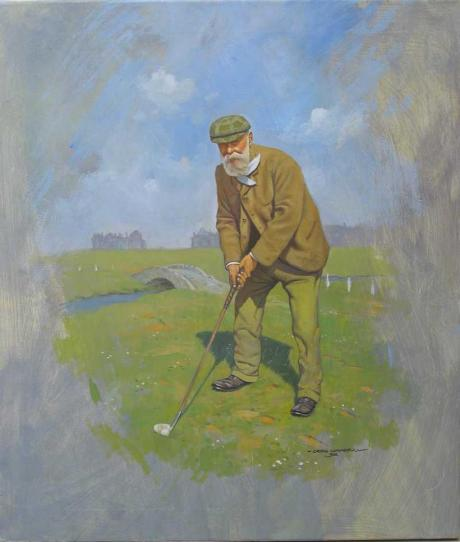 21618 Tom Morris Oil Painting.