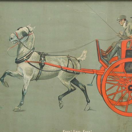 21725 Horse and Cart, Driving Print.