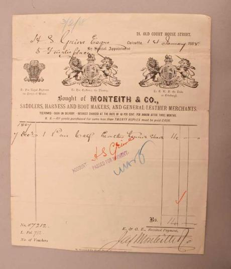 22380 An invoice written by Monteith & Co.,...