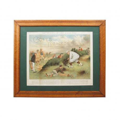 22407 ANTIQUE GOLF PRINT.
