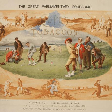 22545 ANTIQUE GOLF PRINT.