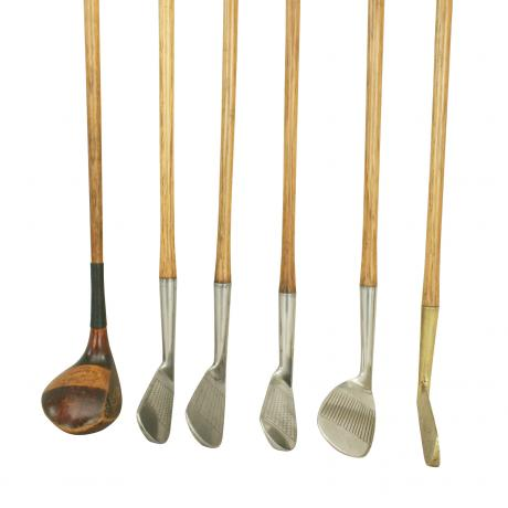 22584 Set of Six Matched Playable Hickory...