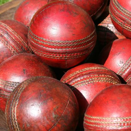 24488 VINTAGE LEATHER CRICKET BALLS.