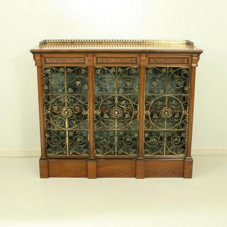 24510 GILLOW & CO. DWARF BOOKCASE, CABINET....