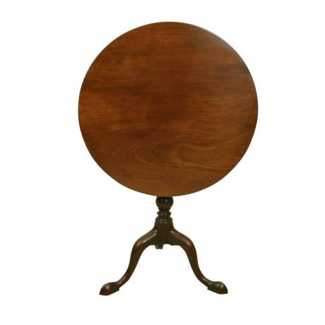 24725 ANTIQUE TILT-TOP MAHOGANY TRIPOD...