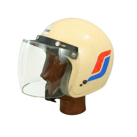 24909 Vintage Motorcycle Crash Helmet.
