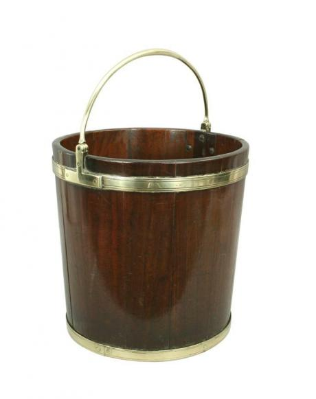 24943 Antique Mahogany Peat, Turf Bucket.