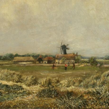 25368 Golf Painting, Wimbledon Common by...