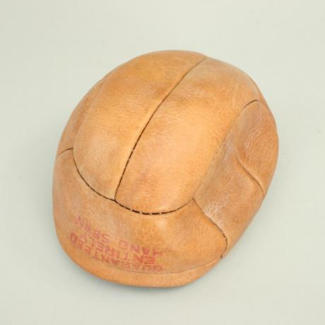 25420 Vintage Unused Leather Football.