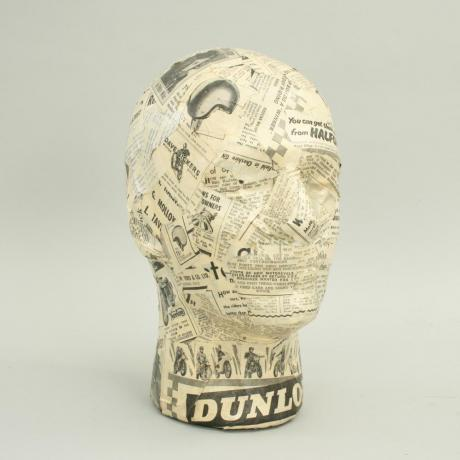 25452 Male Decoupage Mannequin Display Head,...