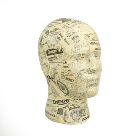 25462 Male Decoupage Mannequin Display Head,...