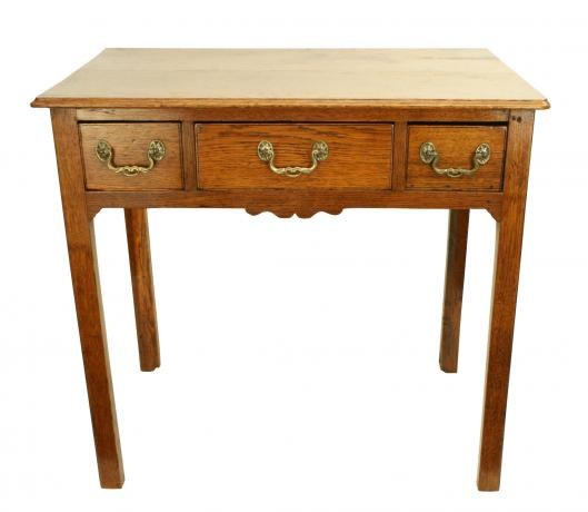 25505 Antique Oak Low Boy, Side Table.