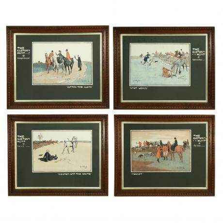 25525 Vintage Lionel Edwards Billiard Prints...