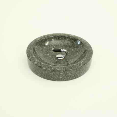 25571 Granite Curling Stone Dish.