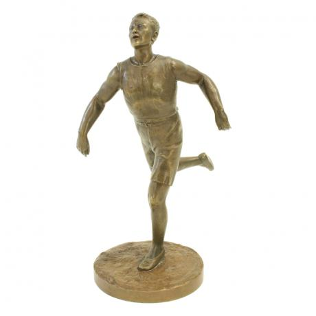 25573 Vintage Bronze Running Figure.