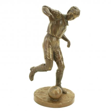 25574 Vintage Bronze Football Figure.