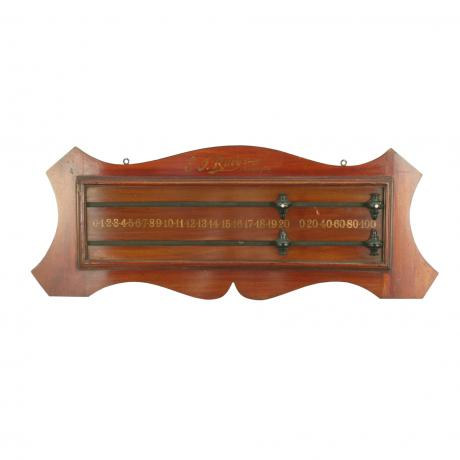 25716 A well shaped mahogany snooker,...