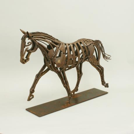25967 Contemporary Metal Horse Sculpture.
