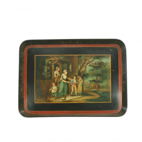 25991 Papier M�ch� Decorative Tray.