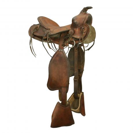 26131 Vintage Child\'s Western Saddle.