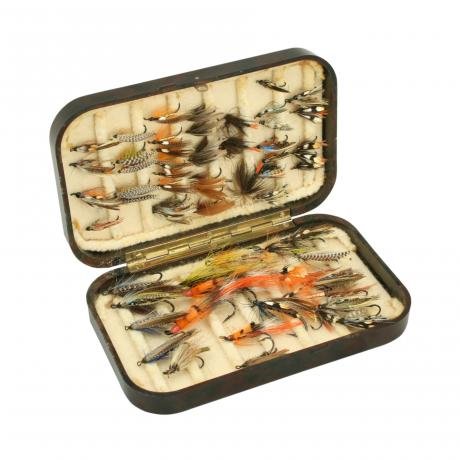 26148 Vintage Hardy Neroda Fishing Fly Box