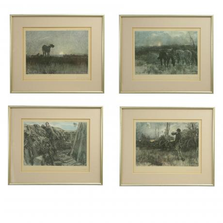 26179 Gilbert Holiday WWI Scenes.A very rare...