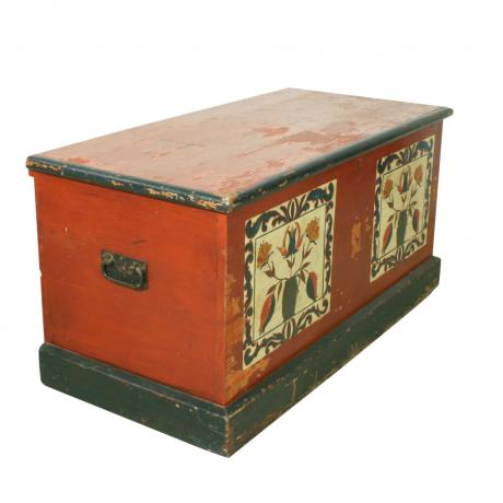 26221 Continental Painted Pine Chest,...
