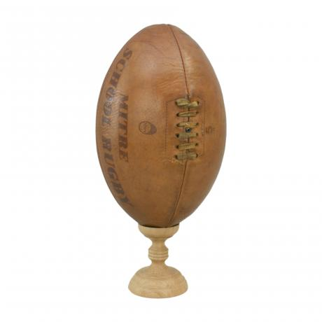 26306 Vintage Leather Rugby Ball.