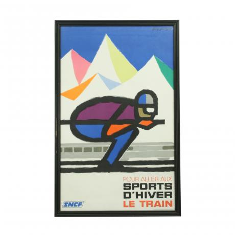 26360 Vintage Colourful Abstract Ski...