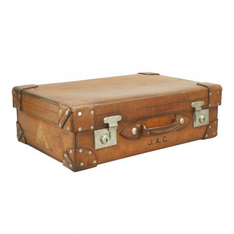 26394 Vintage Leather Suitcase by Cleghorn of...