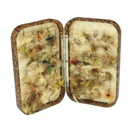 26416 Vintage Hardy Neroda Fishing Fly Box