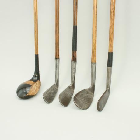 21651 Vintage Set Of Hickory Shafted Golf...