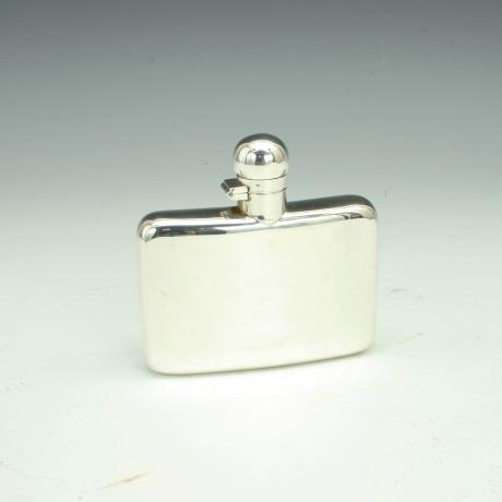 26398 Small Silver Hip Flask.