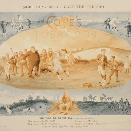 22544 ANTIQUE GOLF PRINT.