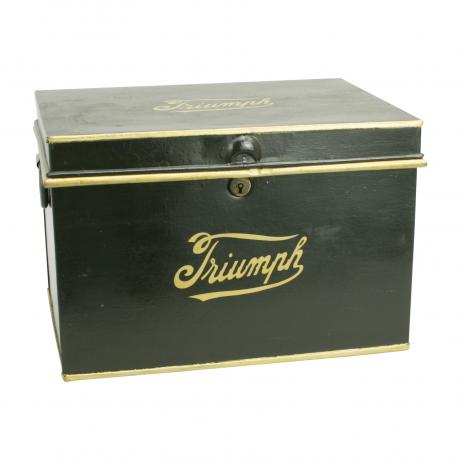 26434 Vintage Metal Storage Trunk, Triumph.